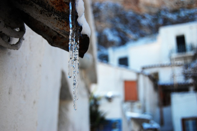 Śnieg w Atenach