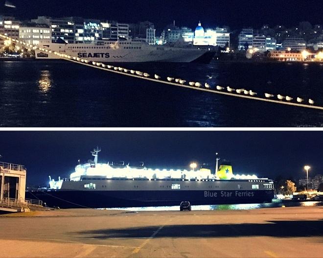 Potem Pireus - szybki przemarsz. Statki wielkie, mniejsze, jachty. Zegarek, jego tarcza i palec. Szybko, szybko... Koniec zwiedzania Aten.